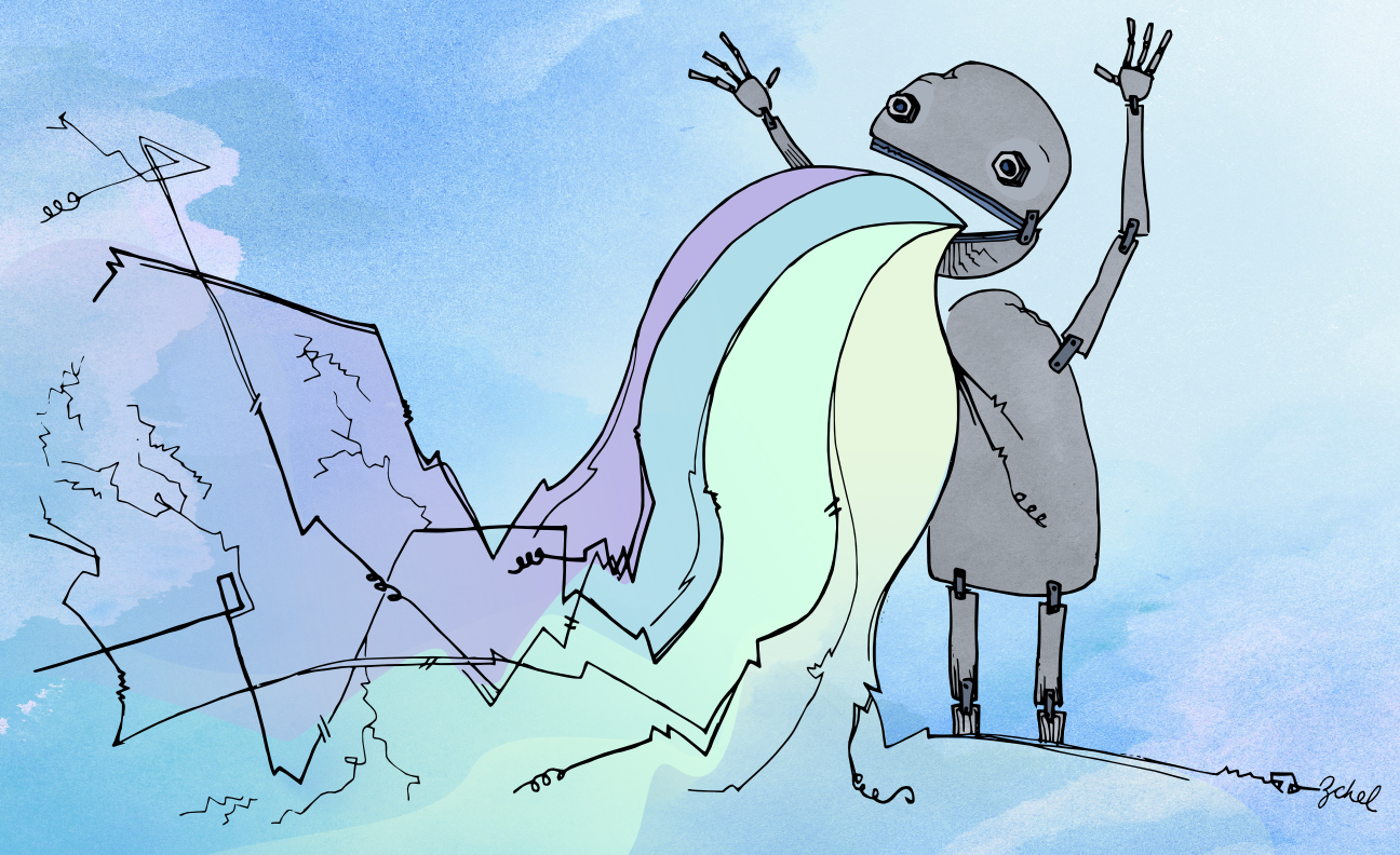 my robot threw up